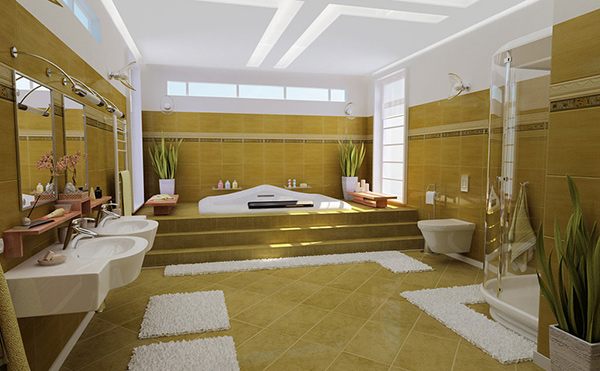 20 contemporary bathroom design ideas home design lover for Big bathroom