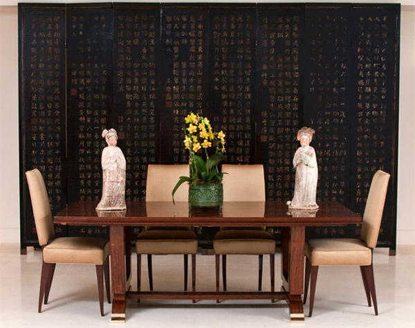 Awesome Asian Inspired Dining Room