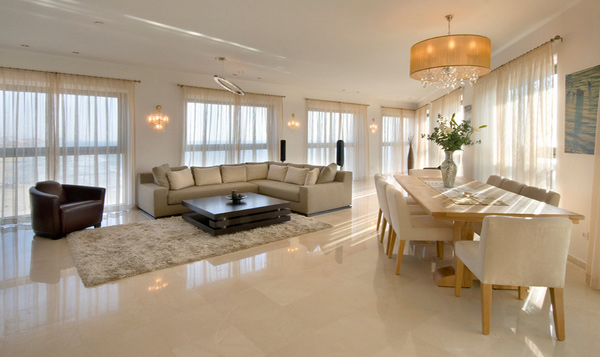 15 Classy Living Room Floor Tiles Home Design Lover - Contemporary Dining Room Ideas