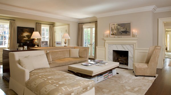 15 Flexible Beige Living Room Designs | Home Design Lover
