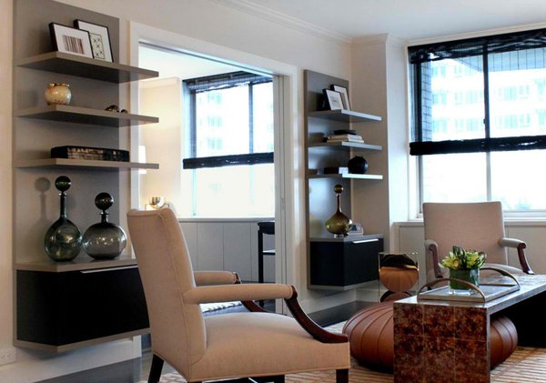 E 65th Street, NYC. Sean Michael Design. Simple Shelving Idea For A Living  Room ...