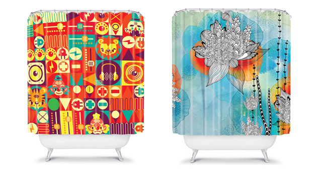 15 Bright And Colorful Shower Curtain Designs