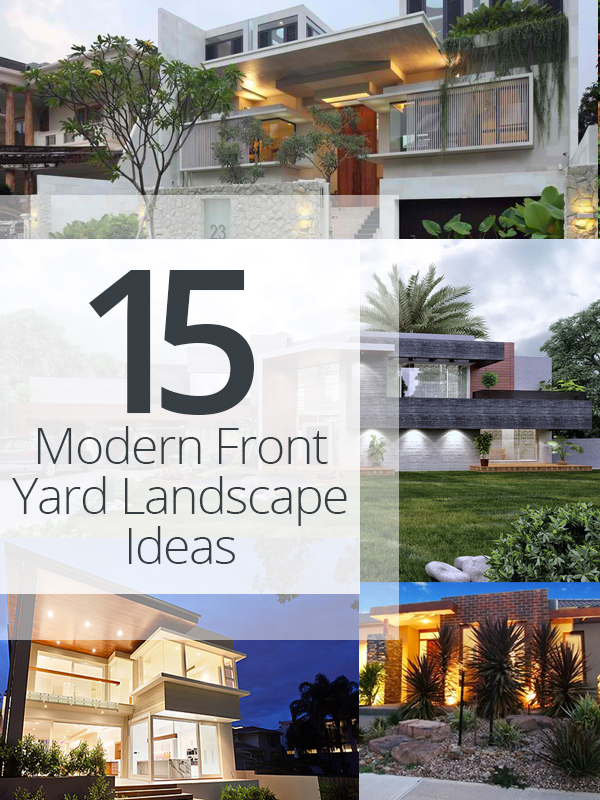 Wonderful Contemporary Front Yard Landscaping Ideas Part - 10: Modern-front-landscape