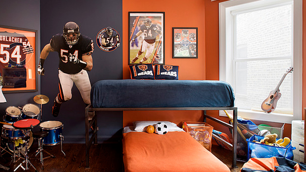 Boys Sports Bedroom get athletic with 15 sports bedroom ideas | home design lover