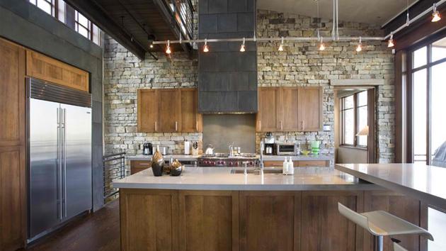 15 Stone Walled Kitchen Designs | Home Design Lover