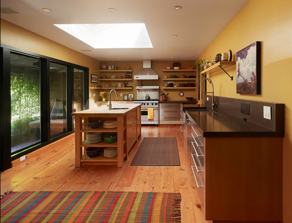 15 area rug designs in kitchens home design lover for Ranch style house plans with large kitchen