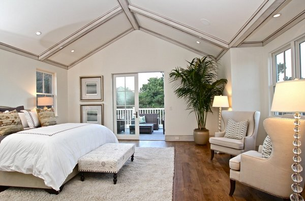 15 Charismatic Sloped Ceiling Bedrooms | Home Design Lover