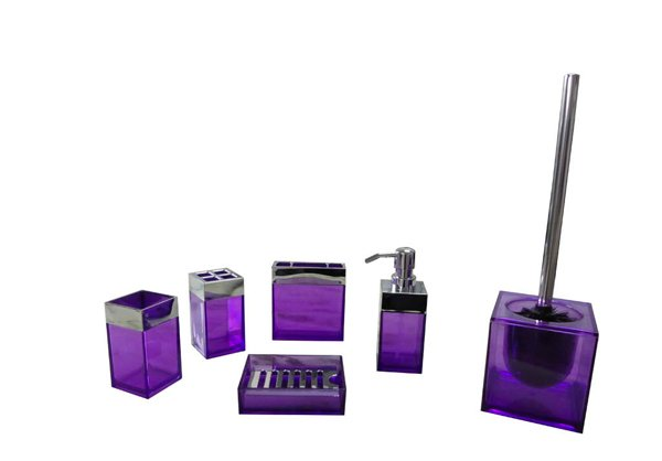 bathroom set purple - Bathroom Accessories Elegant