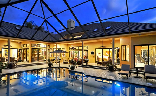 stylish pool enclosure & 15 Stylish Pool Enclosure for Year-Round Pool Usage | Home Design Lover