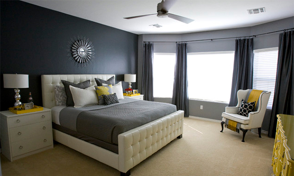bedroom gray the elegant photograph white walls cheerful bedrooms with in vintage on view sophistication and yellow gallery design ideas black