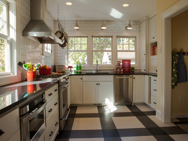 15 different kitchen flooring designs home design lover for Different kitchen designs