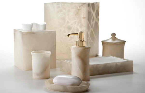 Alisa Cream Alabaster Bath Collection by Labrazel