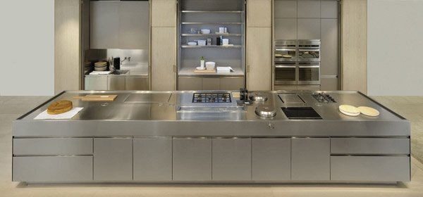 stainless metal island