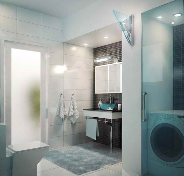 Modern Apartment Master Bath