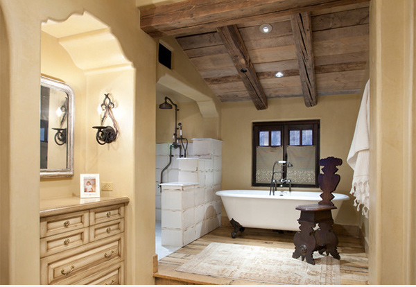 Italian Rustic Bathroom Retreat