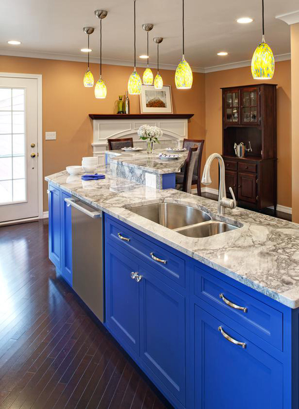 16 Nicely Painted Kitchen Cabinets | Home Design Lover