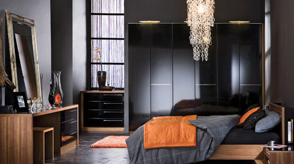 Black Colors Bedroom