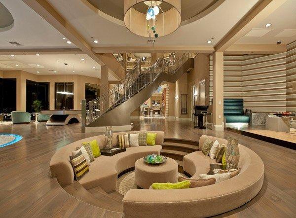 circular sunken living area