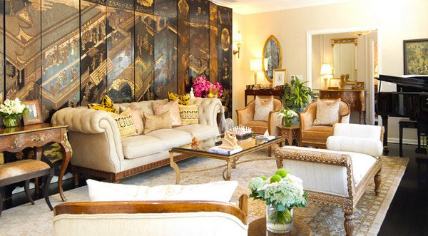 15 sophisticated formal living room designs home design for Colonial living room decorating ideas