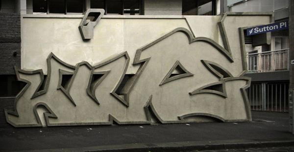 exterior graffiti wall design