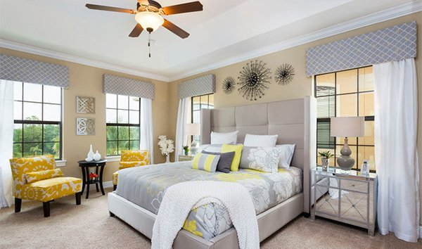 15 Visually Pleasant Yellow and Grey Bedroom Designs | Home Design Lover