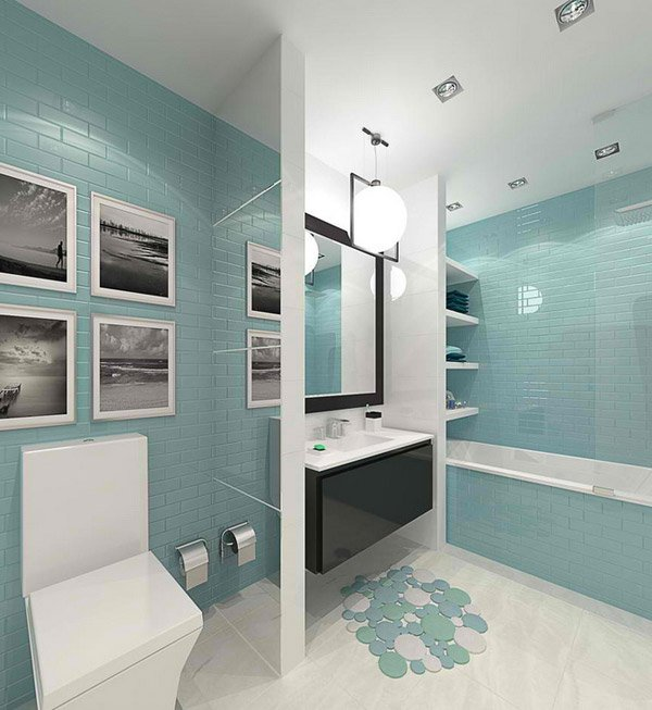 Home Design Ideashome Design Ideas: 15 Turquoise Interior Bathroom Design Ideas