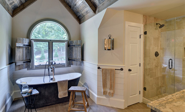 Master Rustic Bedroom and Bathroom