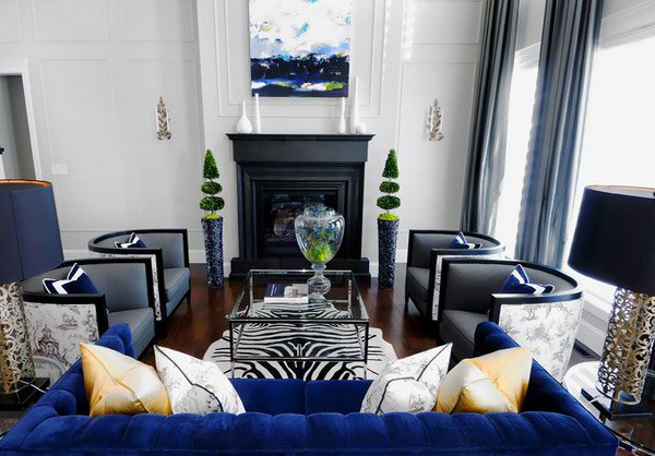 Dark Blue. Atmosphere Interior Design