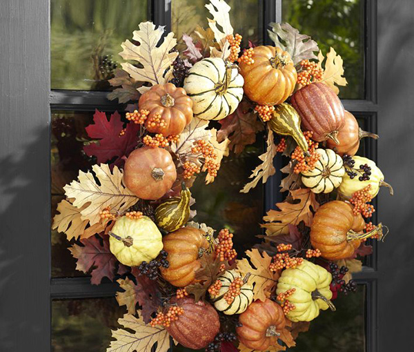 Pumpkin Leaf Wreath