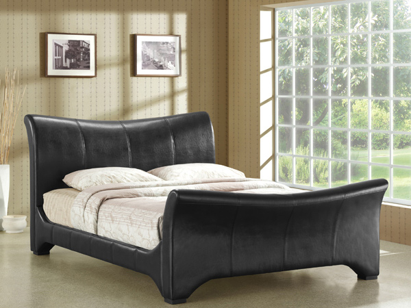 upholstered black
