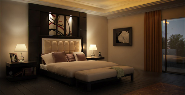 Bedroom dark design