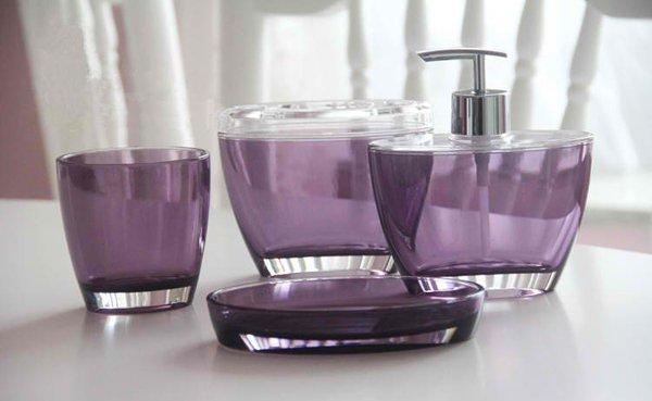 Bathroom Accessories Purple Lavender Lilac : Elegant purple bathroom accessories home design lover