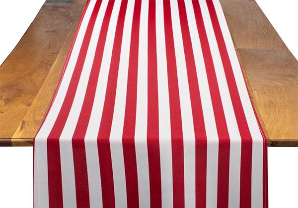 Red & White Stripe Table Runner