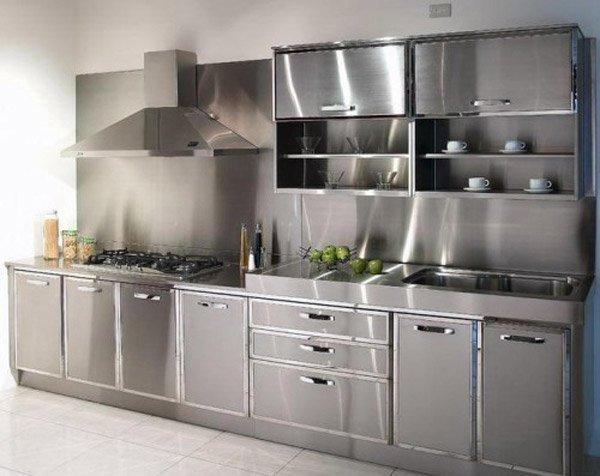 16 Metal Kitchen Cabinet Ideas | Home Design Lover