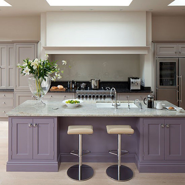 Kitchen Wall And Island Design Ideas ~ Nicely painted kitchen cabinets home design lover