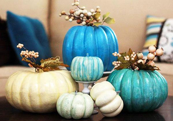 Blue Pumpkins Halloween