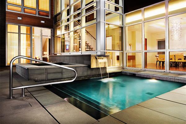 modern concrete pool