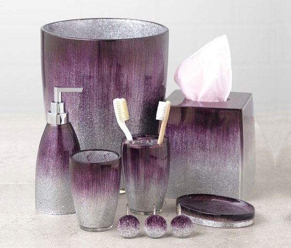 15 elegant purple bathroom accessories home design lover for Designer home decor accessories