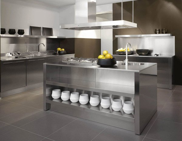 Captivating Stainless Steel Kitchen Cabinets Idea