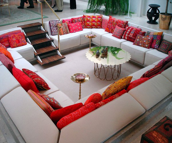 15 Space Saving And Pretty Sunken Living Rooms