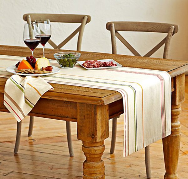 Rustic Stripe Table Runner
