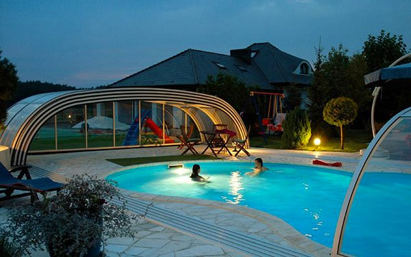 stylish pool enclosure