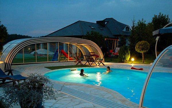 stylish pool enclosure