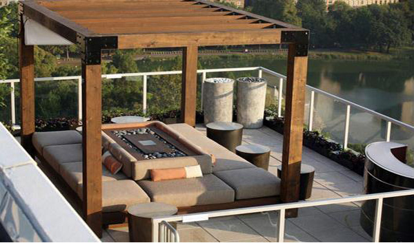 Beau Outdoor Living Room Terrace Design