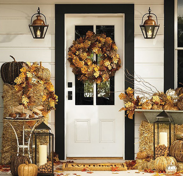 Fall Porch Door halloween