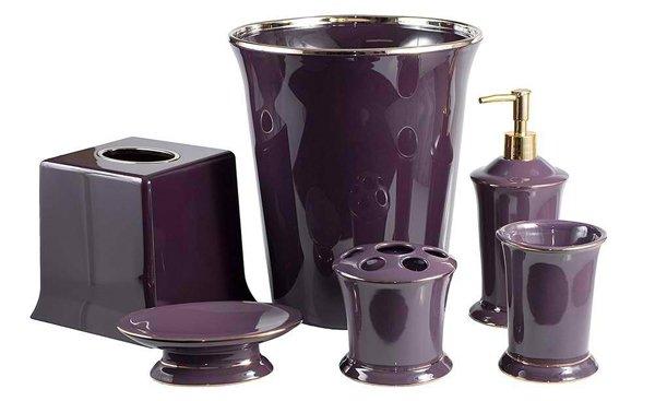 Regal Purple Bathroom Accessories