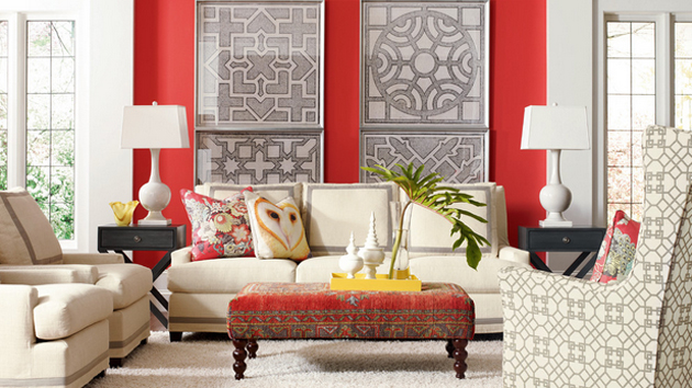 15 Pretty Accent Walls In The Living Room