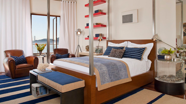 Sail on with 15 nautical themed bedrooms home design lover for Bedroom ideas nautical