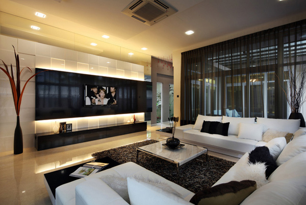 Modern TV Room Ideas The Interior Place