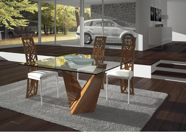 15 Shimmering Square Glass Dining Room Tables Home Design Lover